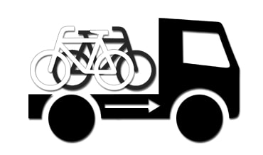 Drawing of bikes transported in a truck