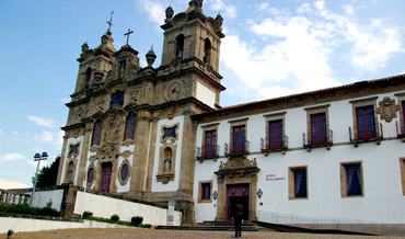 Granite Church and convent converted to Hotel Pousada in Guimaraes
