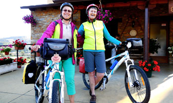 Cyclists ready for the Camino de Santiago