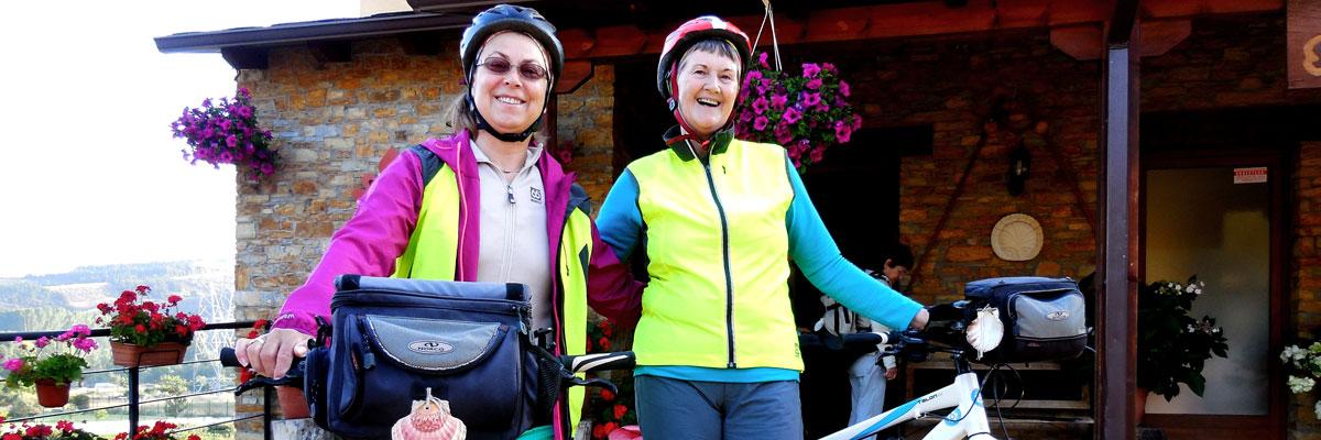 Cyclists ready for the Camino de Santiago
