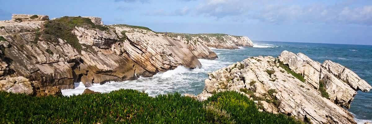 Rocky cliffs and ocean views in Baleal Portugal
