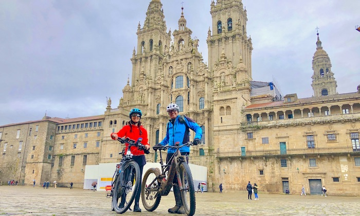 Bike Pilgrims in Santiago