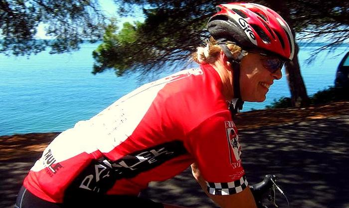 Road Cyclist in Arrabida Nature Reserve