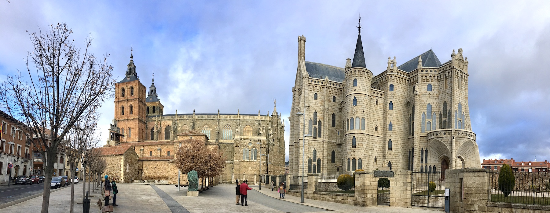 Cathedral and Gaudi Palace in Astorga