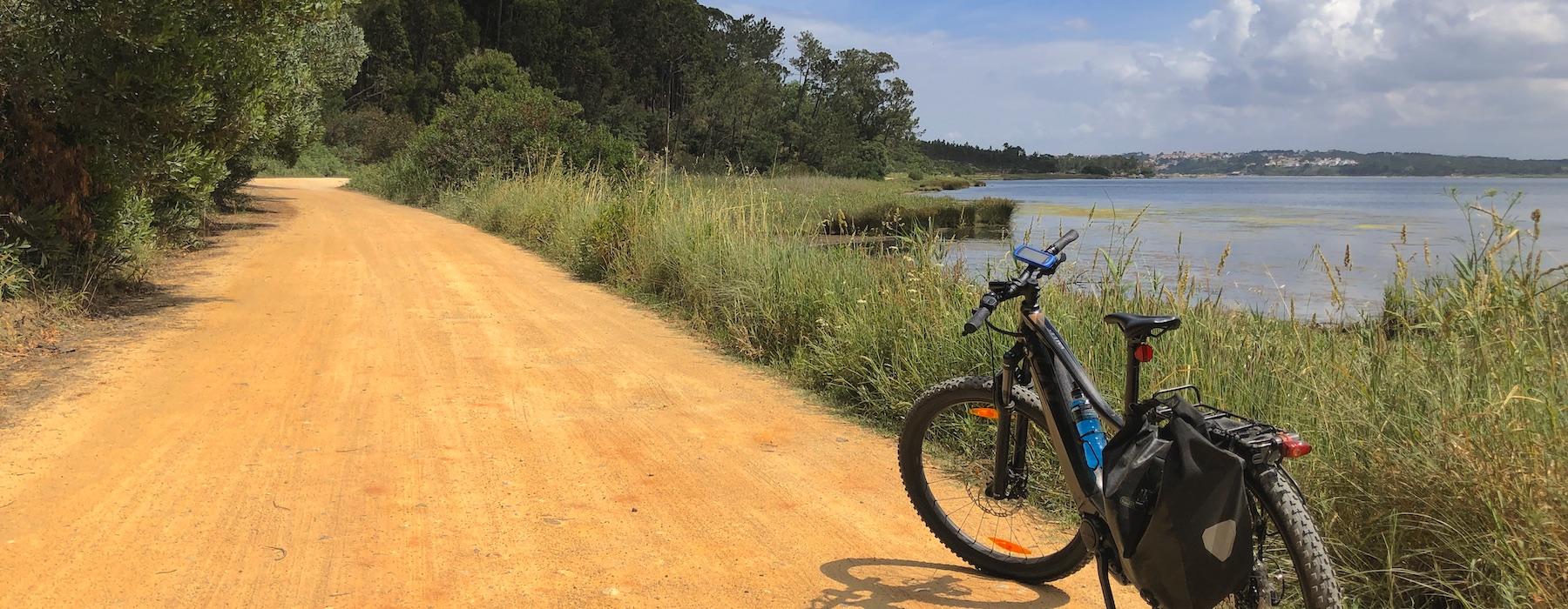 Bike Trail around Obidos Lagoon